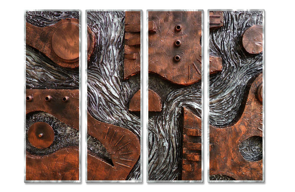All My Walls Flow By Skye Tayler 4 Piece Painting Set Wayfair