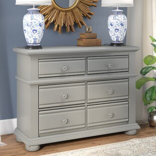 Beachcrest Home Edison 6 Drawer Double Dr..