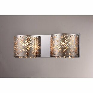 Best Reviews Aubrey 2-Light Wall Sconce By Warehouse of Tiffany