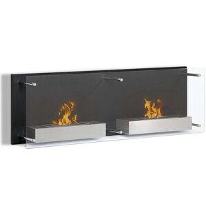 Flynn Ventless Wall Mount Bio Ethanol Fireplace by Orren Ellis