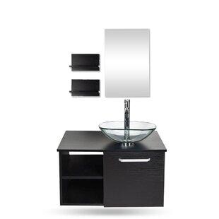 Hatwell 28 WallMounted Single Bathroom Vanity Set with Mirror