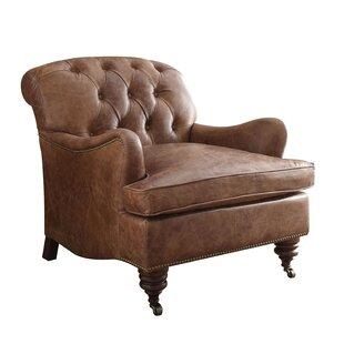 Gracie Oaks Vaishali Top Grain Leather Club Chair