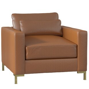 Maxine Leather Armchair by DwellStudio
