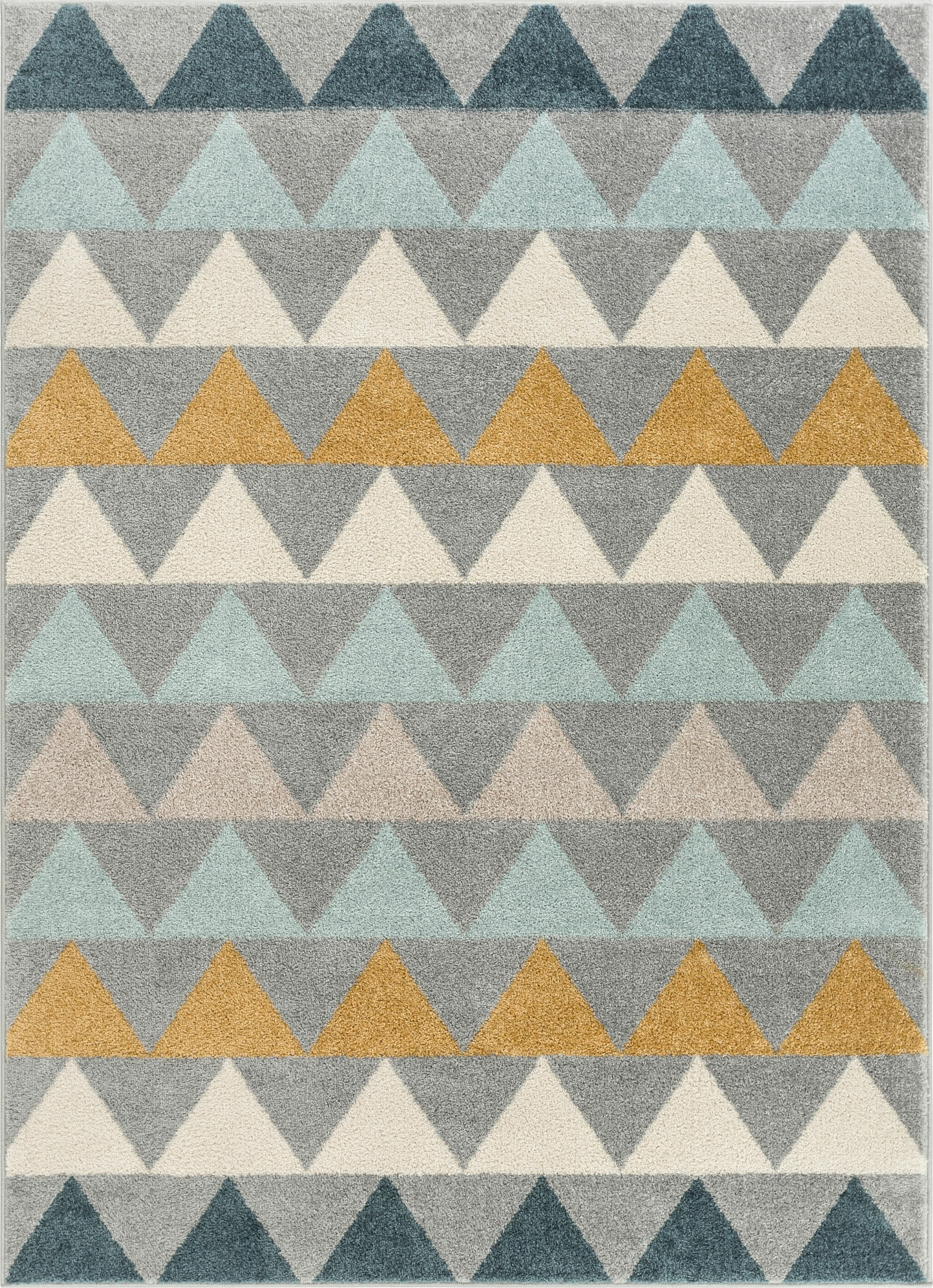 Picture of: Well Woven Mystic Modern Vintage Geometric Gray Blue Yellow Area Rug Reviews Wayfair