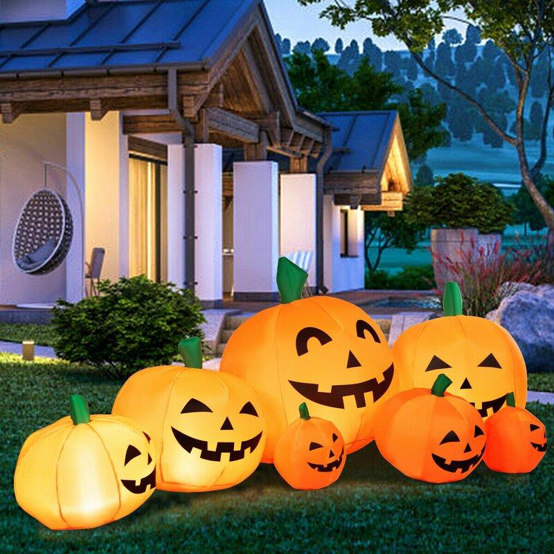 The Holiday Aisle 7 Piece Pumpkins Patch Outdoor Garden Inflatable Set Wayfair