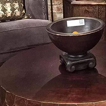 Rosecliff Heights Rosscott Small Teak Decorative Bowl Wayfair
