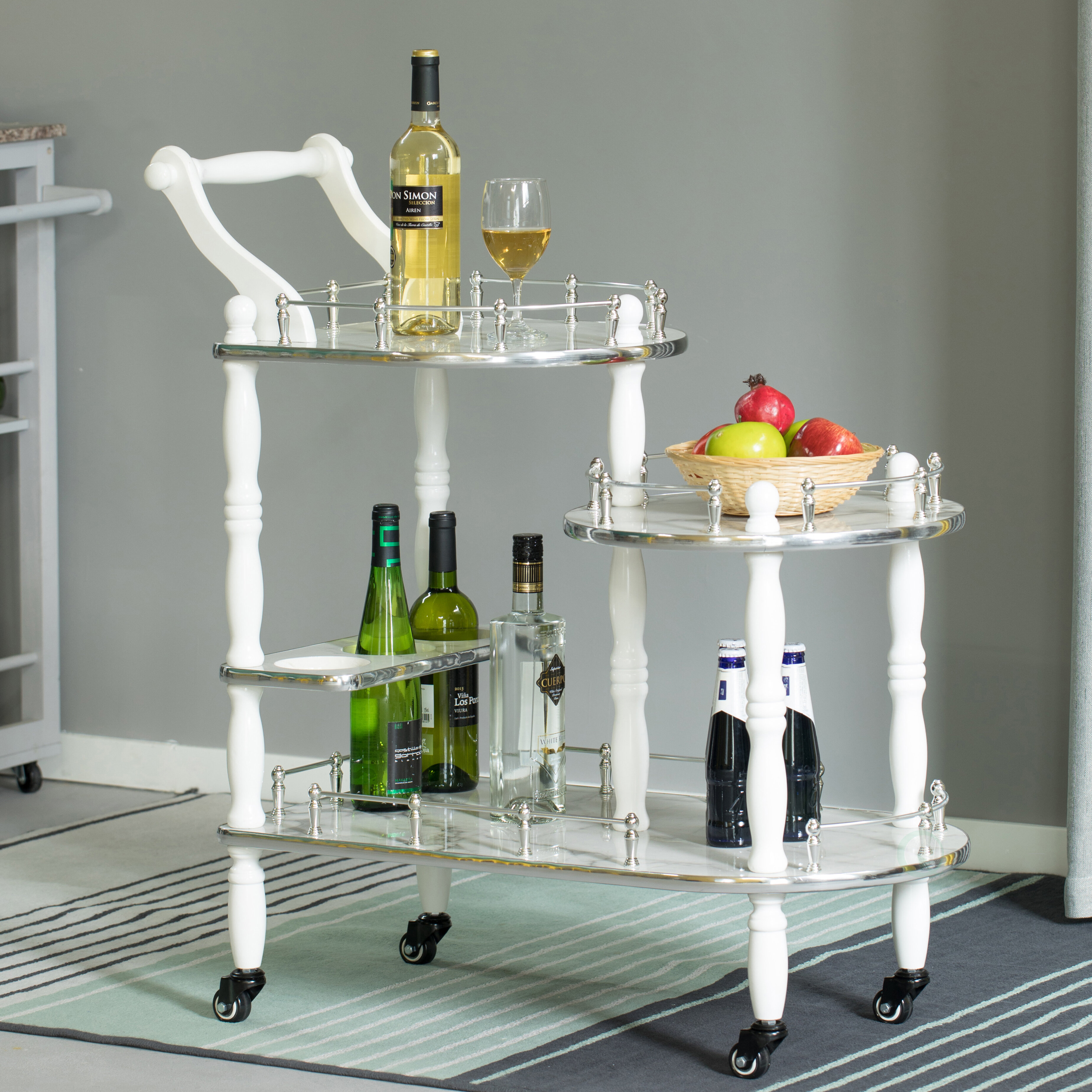 Silver White Bar Carts You Ll Love In 2021 Wayfair