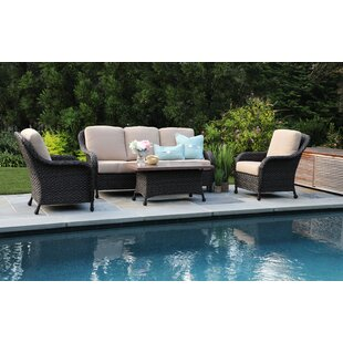 Rodas 4 Piece Sunbrella Sofa Set with Cushions (Set of 4) by Bloomsbury Market