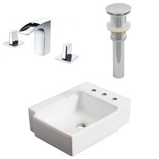Inexpensive Ceramic 16.25 Bathroom Sink with Faucet By Royal Purple Bath Kitchen