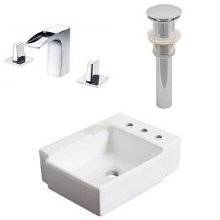 Affordable Ceramic 16.25 Bathroom Sink with Faucet ByRoyal Purple Bath Kitchen