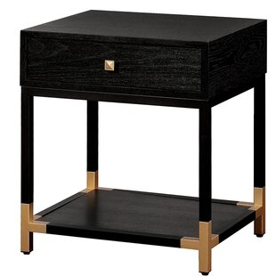Comparison Bynum Transitional Wood 1 Drawer Nightstand by Mercer41