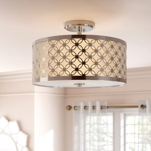 Top Snodland 3-Light Semi Flush Mount By House of Hampton