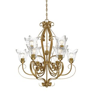 Fleur De Lis Living Whaley 9-Light Shaded Chandelier