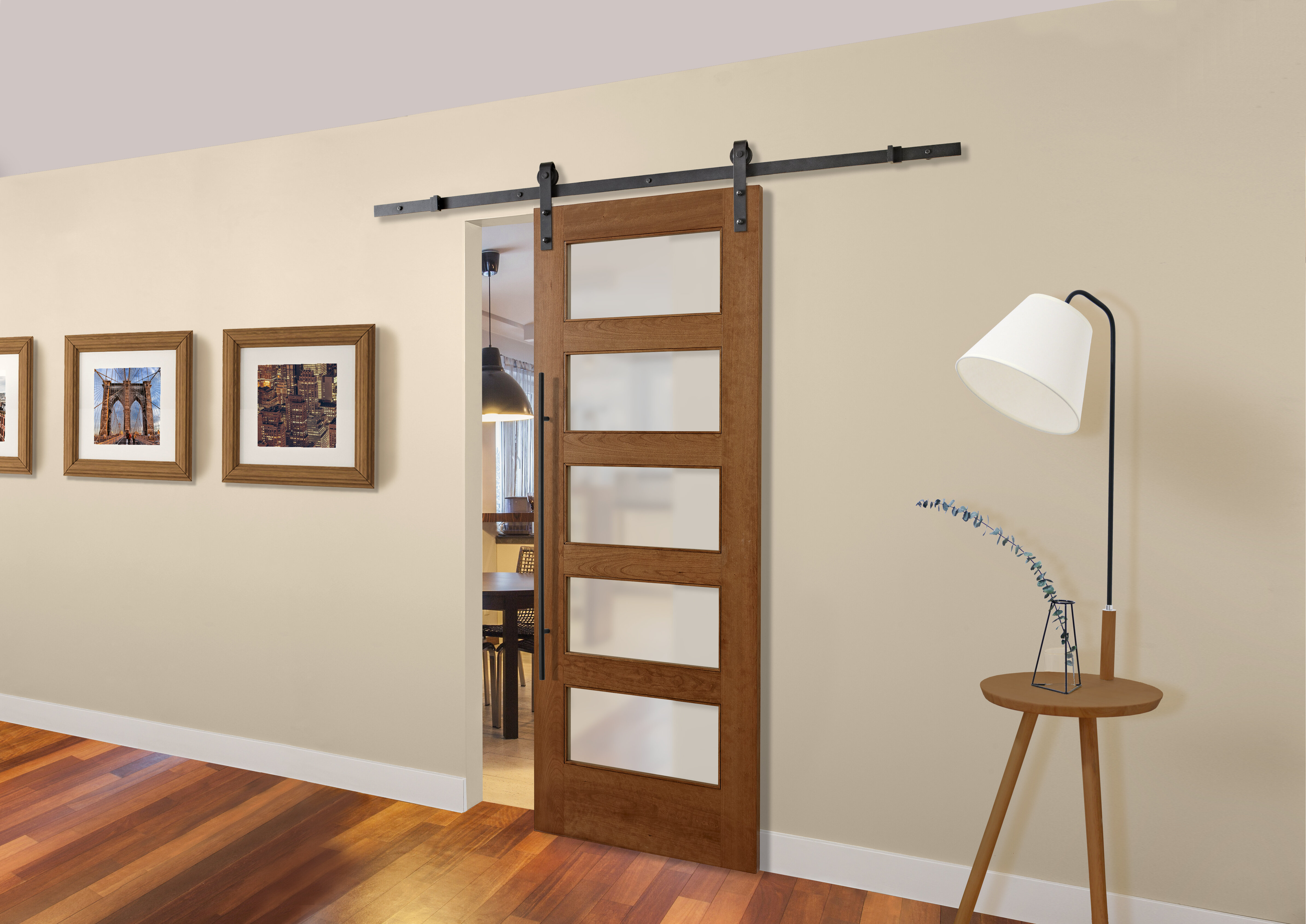 Colonial Elegance Glass Wood Unfinished Barn Door Without Installation Hardware Kit Reviews Wayfair