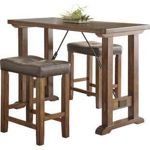 Norrell 3 Piece Counter Height Dining Set by Alcott Hill