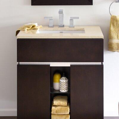 American Standard Studio Ceramic Rectangular Undermount Bathroom Sink with Overflow Sink Color: Linen