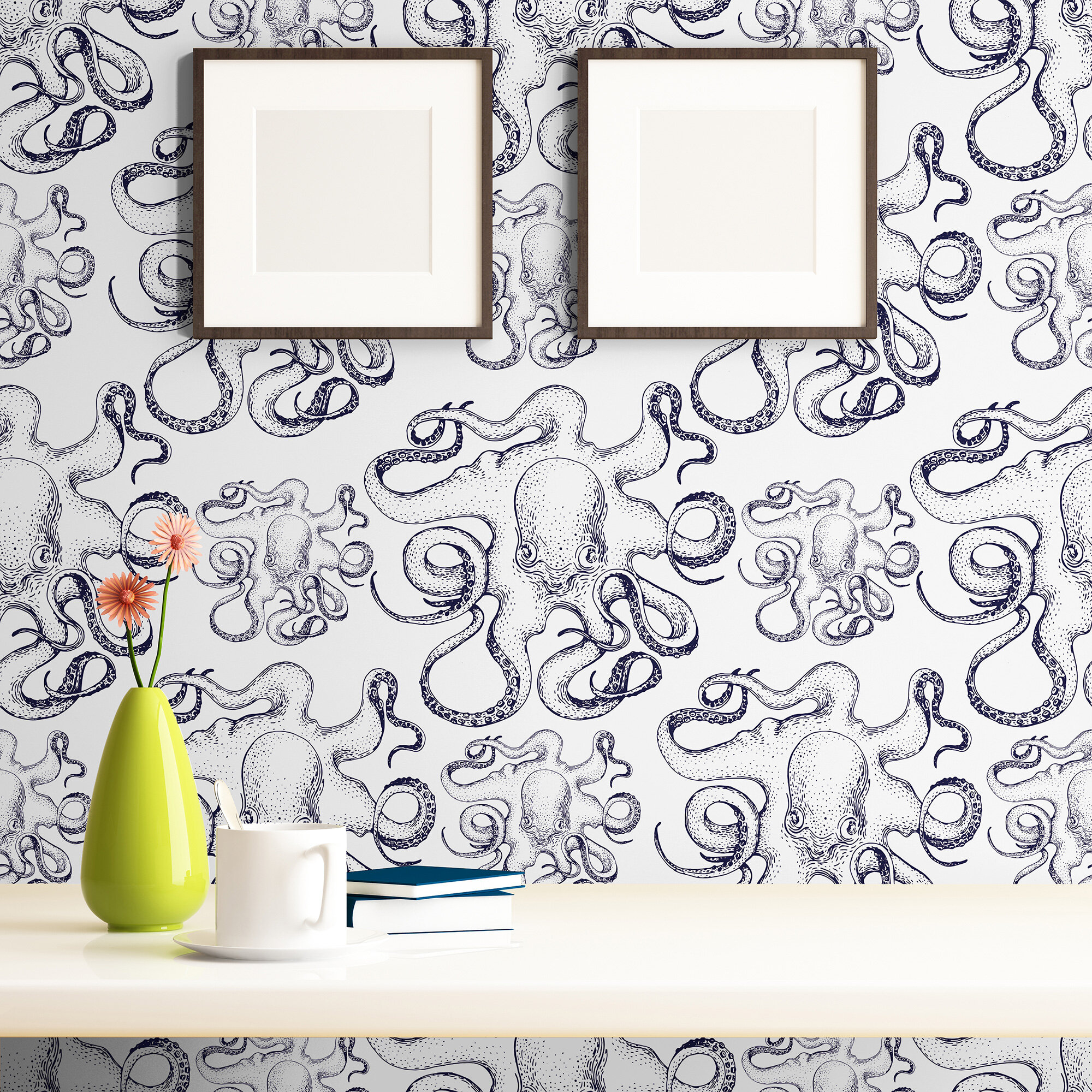 Longshore Tides Arnett Fish Nautical Removable Peel And Stick Wallpaper Panel Wayfair