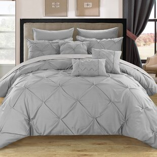 grey and white king comforter Gray Bedding & Silver Bedding Sets You'll Love | Wayfair grey and white king comforter