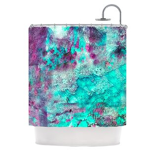 Think Outside The Box Polyester Shower Curtain byKESS InHouse