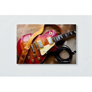 Guitar Motif Magnetic Wall Mounted Cork Board By Ebern Designs