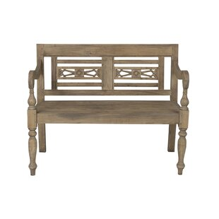 Scroggs Carved Wood Bench ..