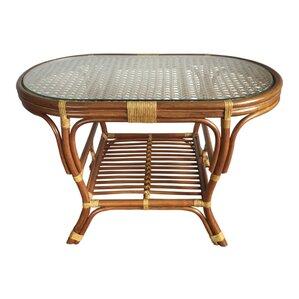 alisa rattan coffee table with magazine rack - Rattan Coffee Table