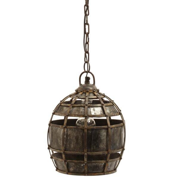 Round Wood Pendant Light | Wayfair