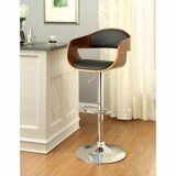 Millington Swivel Upholstered Adjustable Height Bar Stool by Orren Ellis
