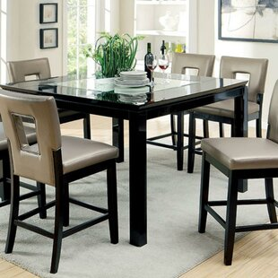 Goddard Contemporary Counter Height Dining Table Ivy Bronx
