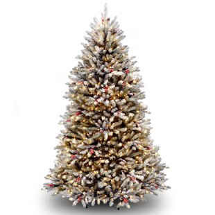 dunhill green fir artificial christmas tree with clear lights with stand