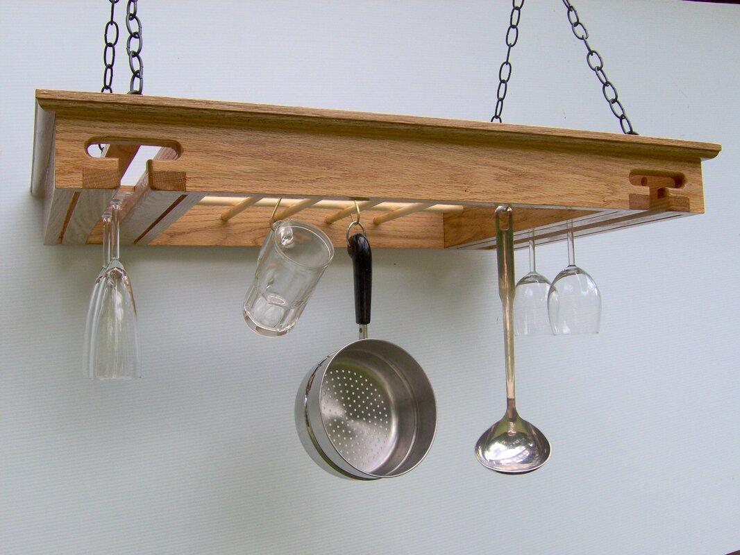 Laurel Highlands Woodshop Wine Glass Hanging Pot Rack