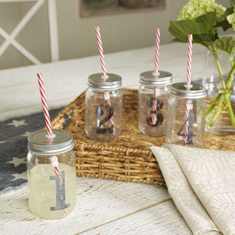 Cooke 16 oz. Numbered Mason Jar