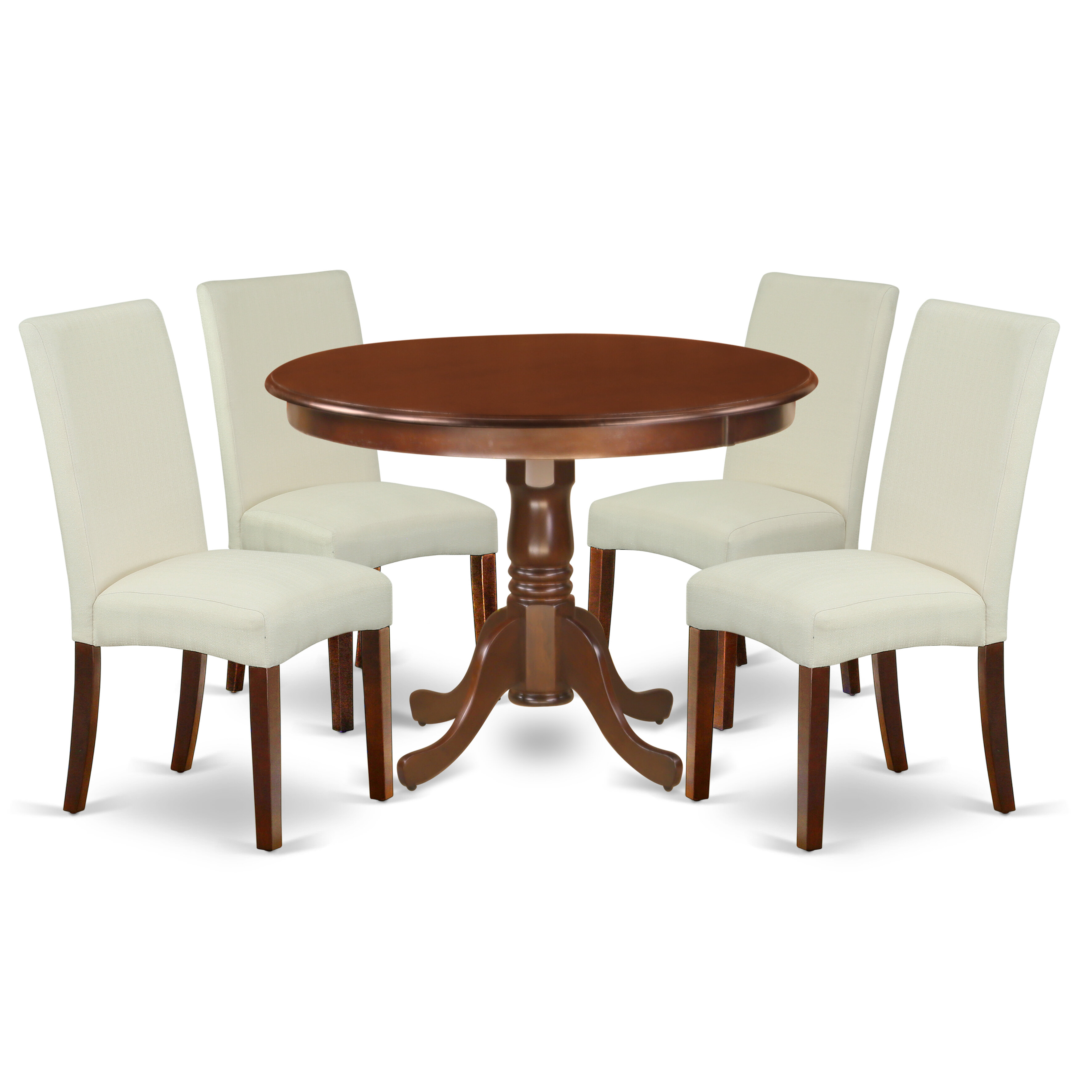 Winston Porter Chillon 5 Piece Rubberwood Solid Wood Breakfast Nook Dining Set Reviews Wayfair