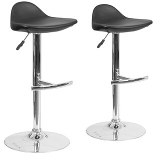 Nyberg Adjustable Height Swivel Bar Stool (Set of 2) Orren Ellis