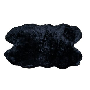 Order Anvi Faux Sheepskin Black Area Rug By Willa Arlo Interiors