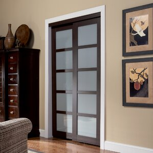 2 panel painted sliding interior door