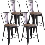 Batey Solid Wood 24'' Counter Stool (Set of 4) by Williston Forge