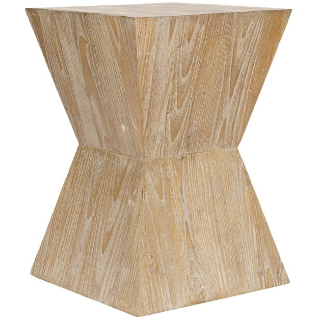 End Table - Shop the Room! Sarah Richardson's Ontario Living Room #SarahRichardson #woodendtable