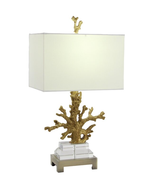 "Polystone 26"" Coral Table Lamp"