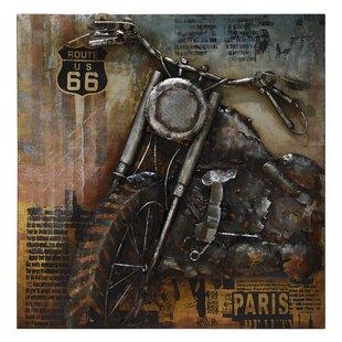 U0027Motorcycle 1u0027 Painting Print On Metal