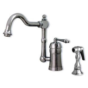 Whitehaus Collection Legacyhaus Single Handle Kitchen Faucet with Side Spray