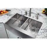 "32.875"" L x 20.75"" W Farmhouse/Apron Kitchen Sink With Grid Set and Drain Assemblies"