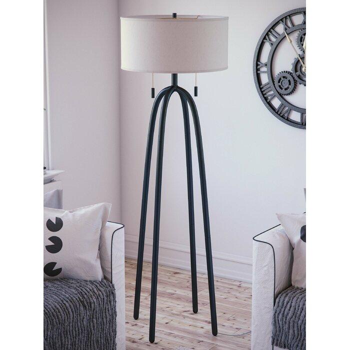 Awesome Elfrieda 61 Floor Lamp Theyellowbook Wood Chair Design Ideas Theyellowbookinfo
