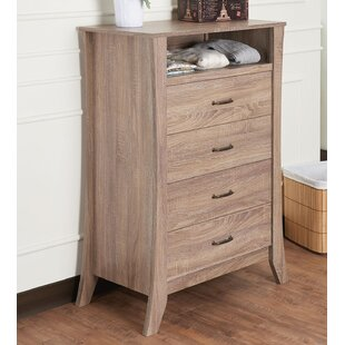 Best Reviews Glenrock 4 Drawer Chest by Highland Dunes