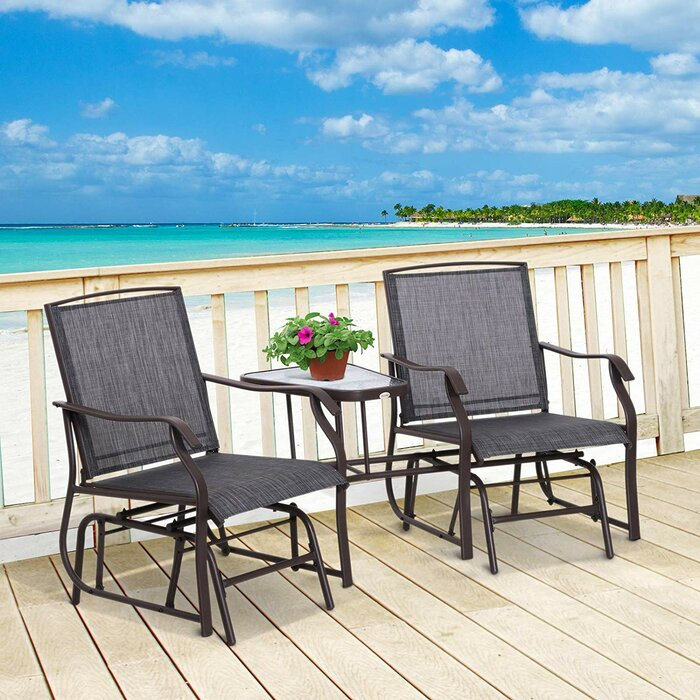 Awesome Manjarrez Outdoor Glider Bench Gmtry Best Dining Table And Chair Ideas Images Gmtryco