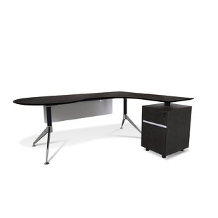 Bergerson Teardrop L-Shape Executive Desk