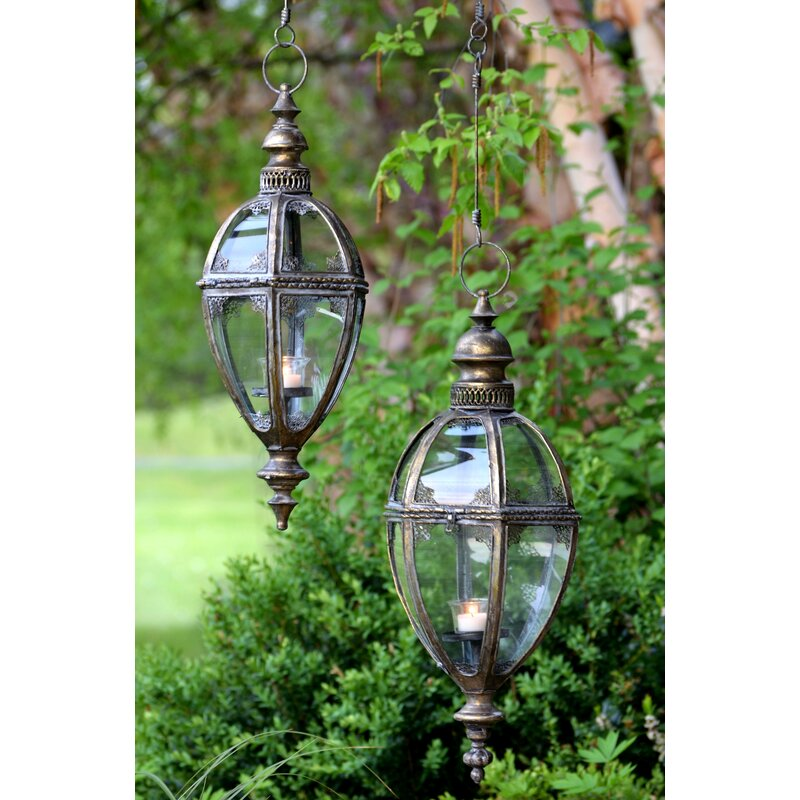 Astoria Grand Glenville 1 Bulb 25 H Outdoor Hanging Lantern Wayfair