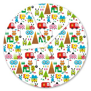 Happy World 13cm Analogue Wall Clock by I-like-Paper