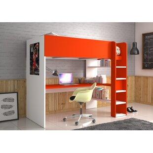 Best Price Villalobo Single High Sleeper Bed With Shelves