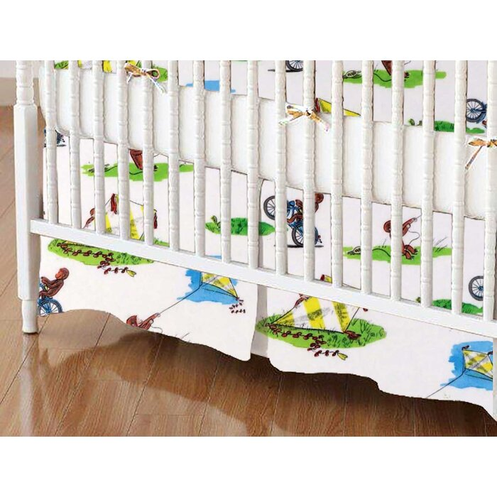 Sheetworld Curious George Kite Crib Skirt